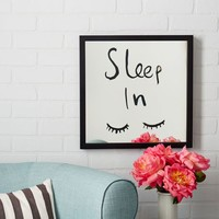 Kate Spade Saturday Mirrored Wall Art - Sleep In
