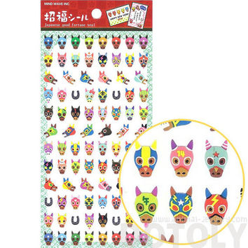 Horse with Colorful Masks Horse Racing Themed Stickers | Cute Animal Inspired Scrapbook Decorating Supplies