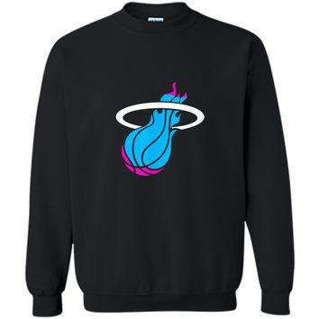 Miamis vices heat basketbal  Printed Crewneck Pullover Sweatshirt