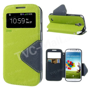 msk View Window Protective Leather Case for Samsung Galaxy S4 s5 s6 s7 edge plus note 3 4 5 7 mobile phone case bag capa coque
