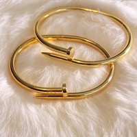 Nailed It Bangle in Gold