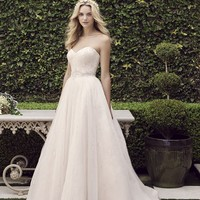 Casablanca Bridal Sweetpea 2245 Strapless Beaded Ball Gown Wedding Dress