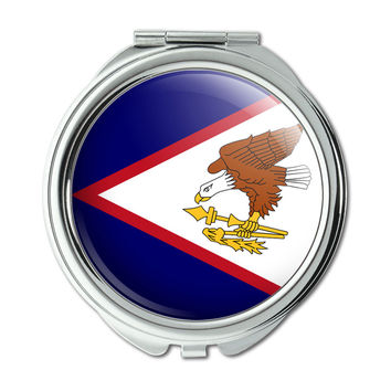 American Samoa National Country Flag Compact Purse Mirror