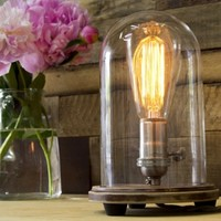 Bell Jar Lighting from Southern Lights Electric, Table Lamp
