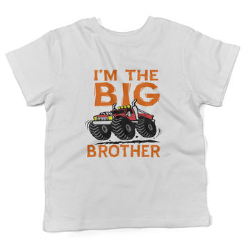 Lil Shirts Youth Big Brother Monster Truck Shirt