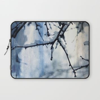 Snow and water Laptop Sleeve by VanessaGF | Society6