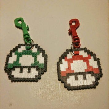 Mario Mushroom Themed Luggage/Backpack Tags