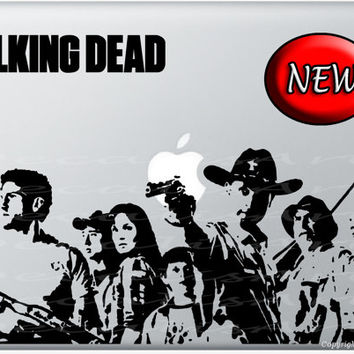 The walking dead macbook decal laptop sticker vinyl mac decal daryl dixon
