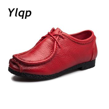 2017 New Arrive Quality Handmade Flats Women Shoes Spring Women Flat Heel Soft Loafers