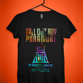 fall out boy paramore tshirt for merry christmas and helloween