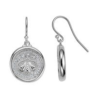 SLANE Bee Wax Seal Diamond Earrings in Sterling Silver 3/4ctw, Large
