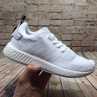 Best Online Sale Adidas NMD R2  White BY9914  Boost Sport Running Shoes Classic Casual Shoes Sneakers