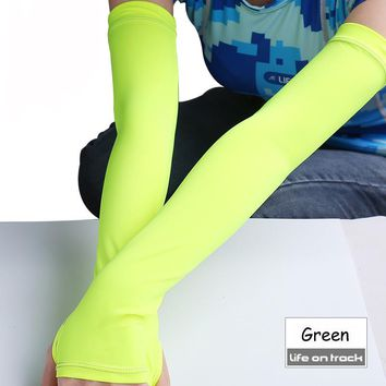 Womens Bike Arm Warmers UV Sun Protection Arm Sleeves Compression Sport Quick Dry Breathable Running Basketball Sports Sleeves