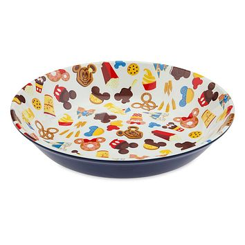 Disney Parks Mickey and Friends Food Icons Serving Bowl New