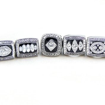 Sanyu New Design 1967 1976 1980 1983 2002 Oakland Raiders replica Championship ring Jewelry Sport Style For  Fans Gifts