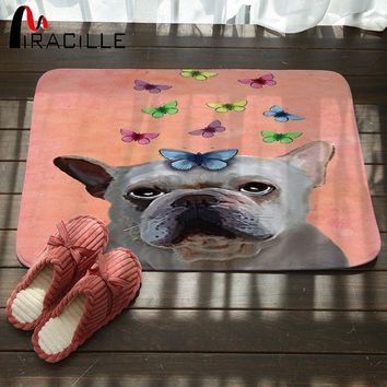 Autumn Fall welcome door mat doormat Miracille Cute Pug Spotty Dog Printing Carpet Stair Mats Anti-slip Floor Mat For Babies Animal Front  Bathroom Textiles AT_76_7