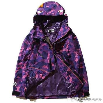 Men's Camouflage Men's Hoodies Windbreaker Hoodies Fashion Cardigan Leisure Coat Popular Brand Japanese Lapel Thin Hoodies Sizes M