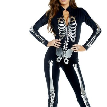 Open Up A Little Sexy Skeleton Costume