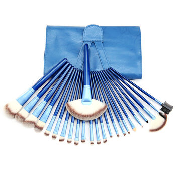Make-up Beauty Hot Sale Hot Deal On Sale 24-pcs Blue Postma Luxury Brush Tools Make-up Brush [4918365700]