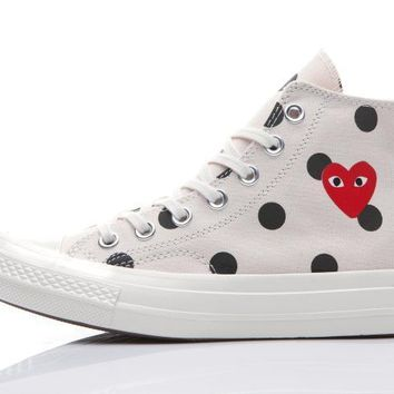 ca kuyou Cdg Converse 1970s play love Casual Shoes Unisex Shoes Canvas shoes converse shoes