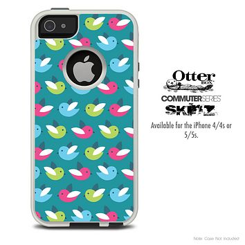 The Colored Tweety Birds Skin For The iPhone 4-4s or 5-5s Otterbox Commuter Case