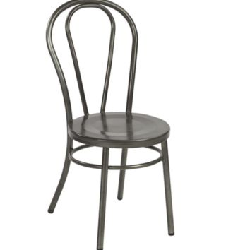 Thonet Style Galvanized Metal Bentwood Steel Side Chair (set of 2)