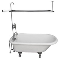 Barclay Products 5.6 ft. Acrylic Ball and Claw Feet Roll Top Tub in White with Polished Chrome Accessories TKATR67-WCP2 at The Home Depot - Mobile