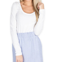 Lauren James Blue Scalloped Skirt
