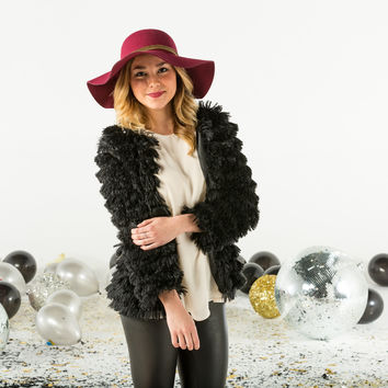 Long sleeve furry jacket