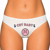 Cry Baby Panties, Underwear- Custom Underwear Panties Thongs Undies Lingerie