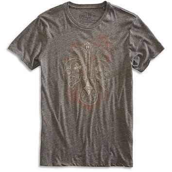 Lucky Brand Gambling Skulls Mens - Black Mountain