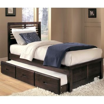 Homelegance Paula Captain's Bed w/ Trundle in Cherry