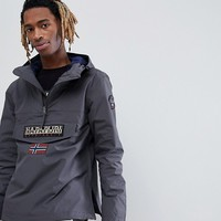 Napapijri Rainforest Jacket In Dark Grey at asos.com