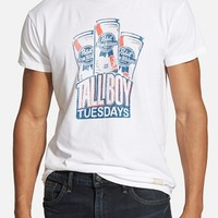 Men's Retro Brand 'PBR Tallboy Tuesdays' Graphic T-Shirt ,