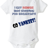 Funny Baby Gift: Embellished Gerber Onesuit brand body suit- Sports Team Rivalry – you choose ANY 2 teams (Pro, College, High School, etc)