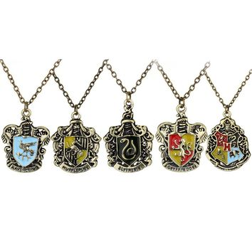 Hogwarts School Badge Pendant Necklace For Women