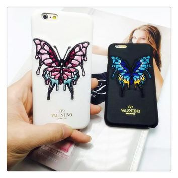 On Sale Iphone 6/6s Hot Sale Cute Hot Deal Stylish Star Butterfly Embroidery Apple Iphone Strong Character Couple Phone Case [8864220231]