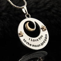 Love You To the Moon and Back Necklace - Great Gift for Mother's Day or Any Day