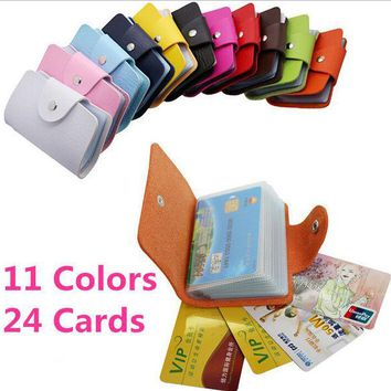 ICIKHY9 Business Credit Card Wallet Holder Bags PU Leather Buckle Bank Card Bag 24  ID Card Cover Bank Multi-functional Cover BB071-SZ