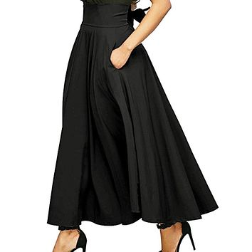 Maxi Skirt - Pleated Belted