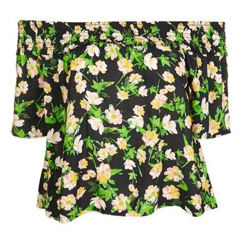 Apple Blossom Smock Bardot Top