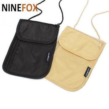 ESBONFI 2017 Wallet  Security Under Clothes Neck Wallet Money Document Card Passport Pouch Holder Free Shipping  LOW PRICE