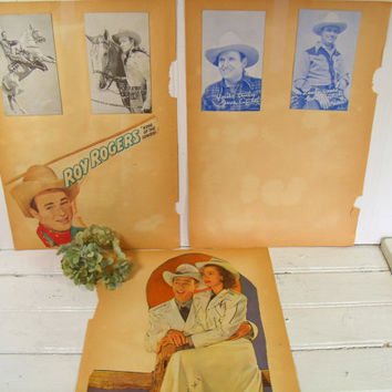 Retro Collection of Celebrity Cowboy Cards - Roy Rogers & Dale Evans Cut Outs - Gene Autry Roy Rogers Collectible Penny Arcade Trading Cards