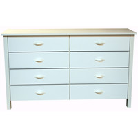 White Contemporary Bedroom 8-Drawer Dresser - Made in USA