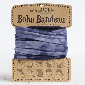 Navy  &  White  Tie-Dye  Boho  Bandeau  From  Natural  Life