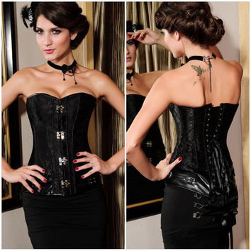 Shaper Body Sexy Waist Slim Black Silver Corset [4965267524]