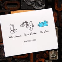 Perfect Pairs Me and You Card