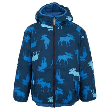 Moose Print Reversible Jacket