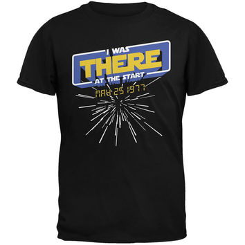 There At The Start Hyper Space Black Adult T-Shirt