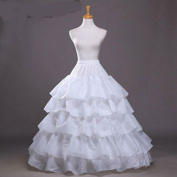Wedding Petticoat Hoop Skirt Layers Ruffle Wedding Elastic Waist